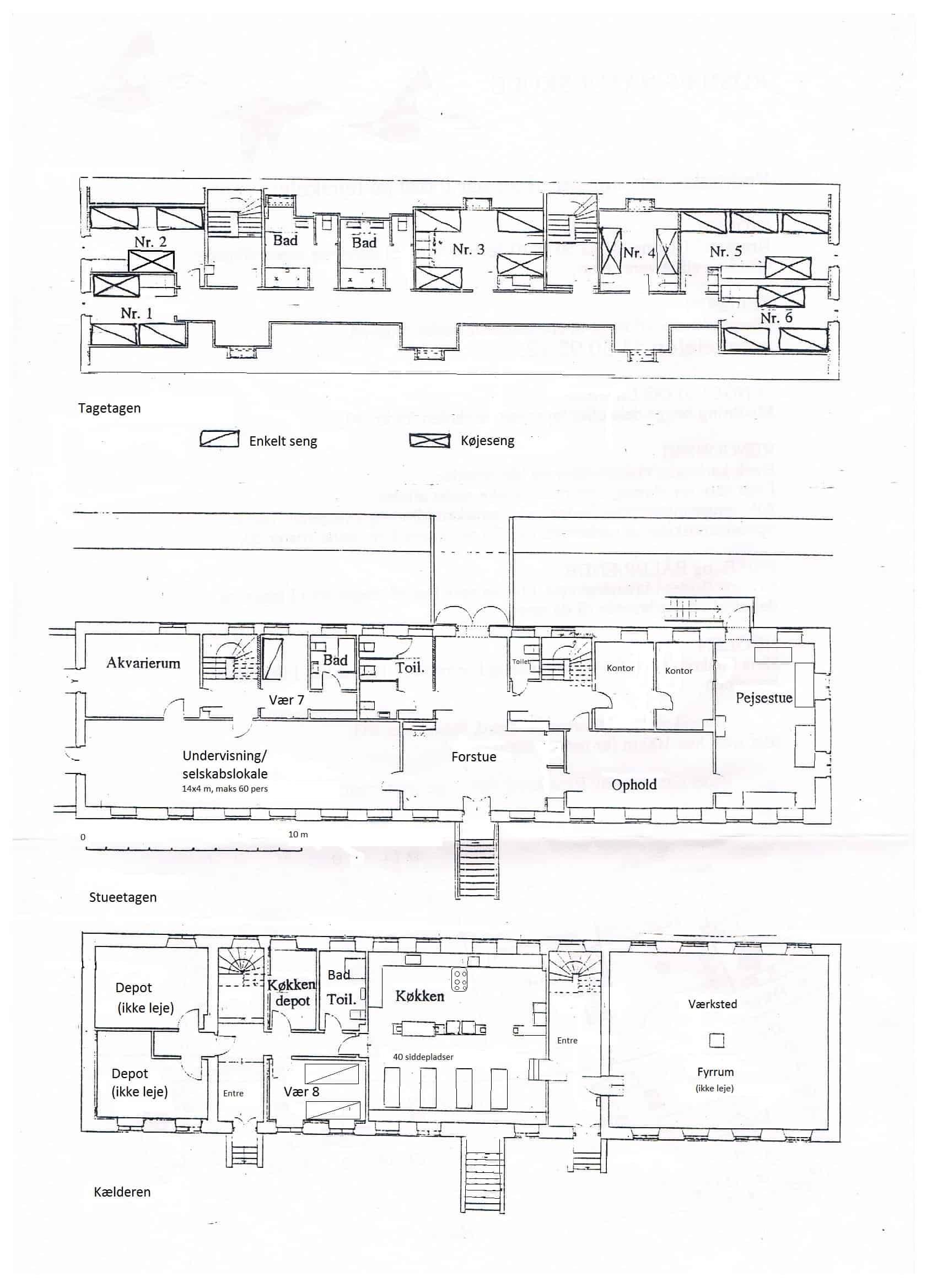 Grundplan over Røsnæs Naturskole